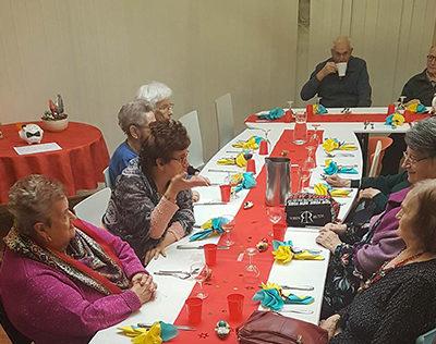 Le 1er janvier a été organisé un repas à La-solution pour nos patients qui étaient seuls